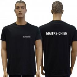 Tee-shirt noir MAITRE-CHIEN