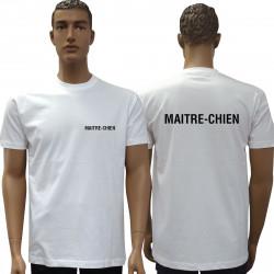 Tee-shirt blanc MAITRE-CHIEN