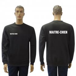 Sweat-shirt noir Maître-chien
