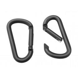 Paire de mousqueton aluminium noir