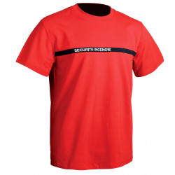 Tee shirt Sécurité Incendie rouge