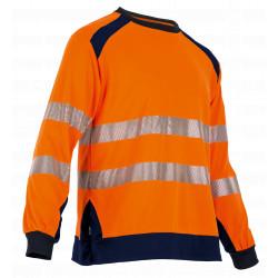 Tee shirt manches longues haute visibilité orange