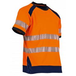 Tee shirt haute visibilité orange