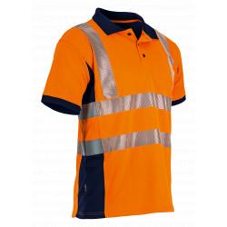 Polo haute visibilité orange