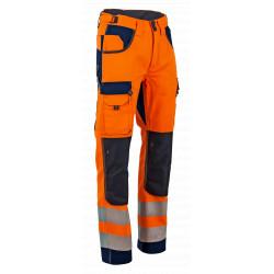 Pantalon haute visibilité orange