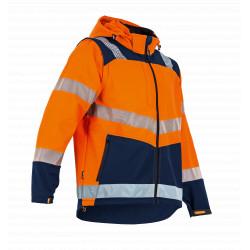 Softshell haute visibilité orange