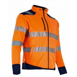 Veste micropolaire hv orange