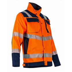 Veste de travail haute visibilité orange
