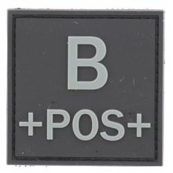 Identifiant groupe sanguin B+ | Noir