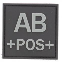 Identifiant groupe sanguin AB+ | Noir