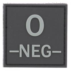 Identifiant groupe sanguin O- | Noir