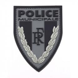 Ecusson de bras Police Municipale basse visibilité gris