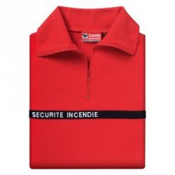 Chemise F1 coton rouge Sécurité Incendie