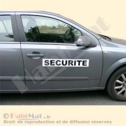 Plaque magnétique SECURITE | pour véhicule