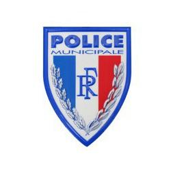Ecusson plastique Police Municipale en relief