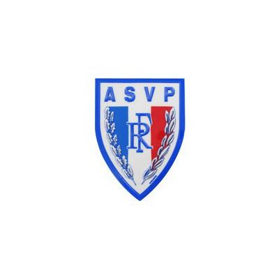 Ecusson plastique A.S.V.P en relief