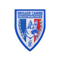 Ecusson plastique Brigade Canine en relief