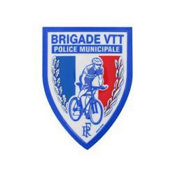 Ecusson plastique Brigade VTT en relief