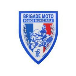 Ecusson plastique Brigade moto en relief