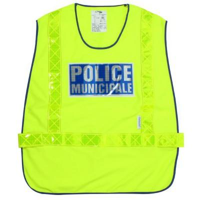 Chasuble jaune Police Municipale | Haute Visibilité