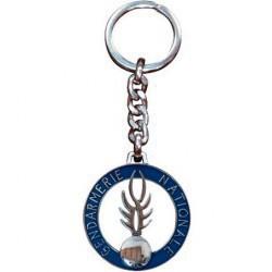 Porte clefs métal Gendarmerie