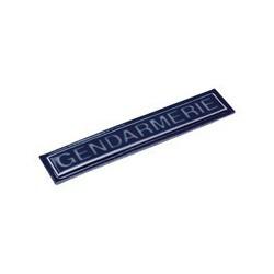 Barrette Gendarmerie plastifiée