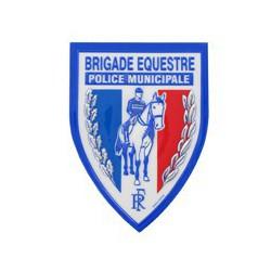 Ecusson plastique Brigade Equestre en relief