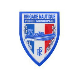Ecusson plastique Brigade Nautique en relief